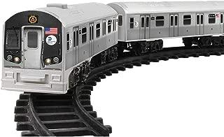 SINCE 1914 JOHNSON SMITH CO (Set) MTA New York City Motorized Subway Train - 3 Cars w/ Track & Batteries