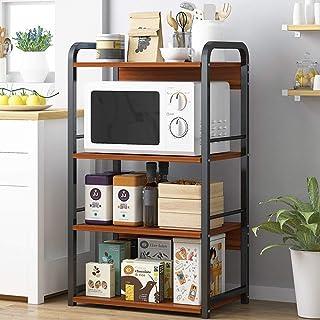 Rangement Cuisine Organisateur étagère Utilitaire de stockage à 4 tablettes niveau Shelf Assemblage facile Vintage Metal F...