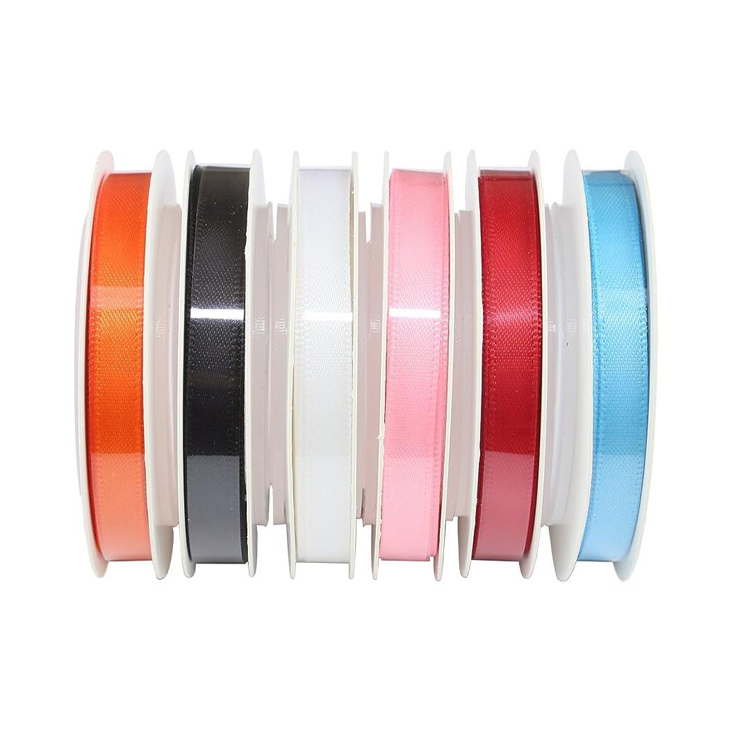 ITIsparkle Satin Ribbon Assortment, 6 Colors 1/4