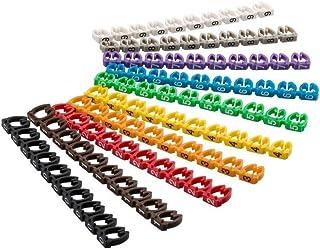Goobay 72515 Kabelmarker Clips '0 9' für Durchmesser, 6 mm farbig