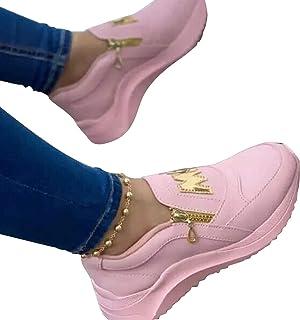 """Victoy, scarpe da ginnastica alla moda con scritta in lingua inglese """"Walking Shoes"""", leggere, comode scarpe da ginnastica..."""