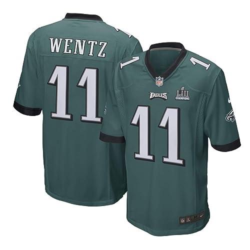 Nike Carson Wentz Philadelphia Eagles Men s Super Bowl LII Champion Patch  Game Jersey – Midnight Green ec9f8a2a7
