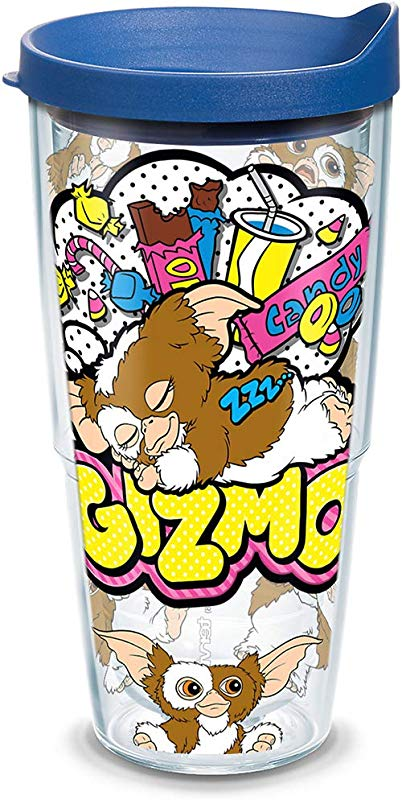 Tervis 1306157 Warner Brothers Scary Movie Collection Gremlins Gizmo Insulated Tumbler With Wrap And Blue Lid 24oz Clear