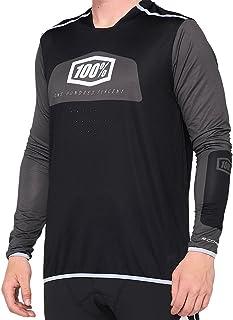 100% MTB-jersey lange mouwen R-Core zwart/wit