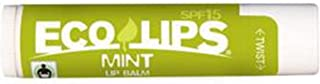 Mint SPF 15 Lip Balm Made with 70% Certified Organic - 0.15 oz,(Eco Lips)