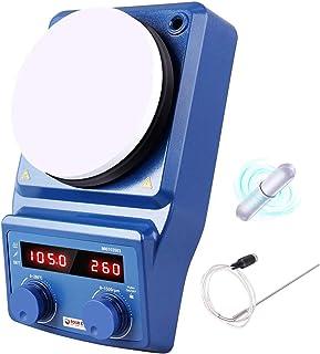 Agitador digital magnético de 5 pulgadas para placa calefactora LED - Cuatro E con placa de cerámica recubierta, 100-1500 ...