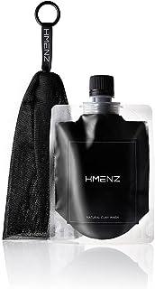 HMENZ 洗顔 メンズ 濃密黒泡 クレイ 炭 配合 洗顔 ネット 付き 130g