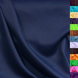 Modestoff / Dekostoff universal Stoff ALLROUND knitterarm - Meterware am Stück Marine-Blau