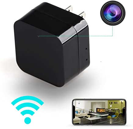 ieleacc - Hidden Camera - HD 1080P - Motion Detection - WiFi Remote View - USB Charging Phones - Alarm Message -(Support 128GB Micro SD Card) - Home Mini ...
