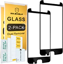 [2-Pack]-Mr.Shield for Motorola Moto Z2 Force Edition[Tempered Glass] [Full Cover] [Black] [Fit for Case Version] Screen Protector with Lifetime Replacement