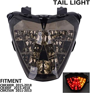 LED Motorcycle Rear Integrated Tail Signal light Lamp Turn Signal and Brake Lights For For Honda CBR300R CBR 300R 300 R 2015-2018 CB300F CB 300F 300 F 2015-2018 CBR250R 250R 2011-2013 Street Motorbike