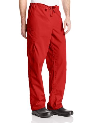 Cherokee Originals Unisex Drawstring Cargo Scrubs Pant, Red, Large