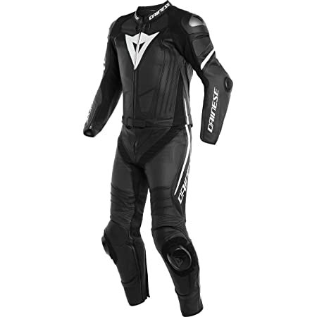 Dainese Laguna Seca 4 2 Teiler Motorrad Lederkombi Schwarz Weiß 104 Auto