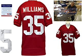 Aeneas Williams Signed Custom Jersey - PSA/DNA - Auotgraphed w/ Photo