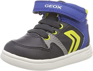 (3.5 UK Child, (Navy/Lime Green Cf43s)) - Geox Baby B Djrock Boy a Low-Top Sneakers