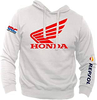 Felpa Personalizzata Honda Oro Vintage Racing HRC Moto GP Repsol Motors Marquez MM93 Sport Senza Tascone
