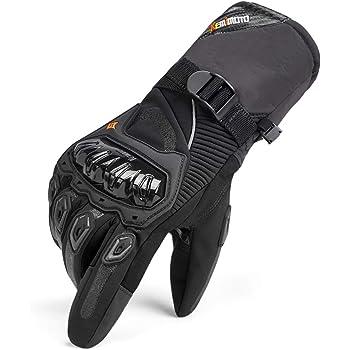 Guanti Scooter da Sci Snowboard Protettivi Touch Screen Guanti Moto Invernali 100/% Impermeabili Termici