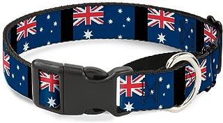 Buckle-Down Australia Flags Martingale Dog Collar, 1