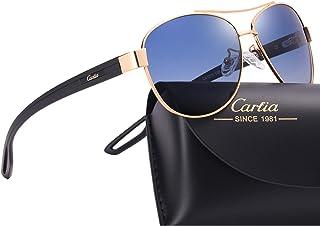 Carfia Polarized Sunglasses for Women 100% UV400 Protection Lightweight Comfort Design