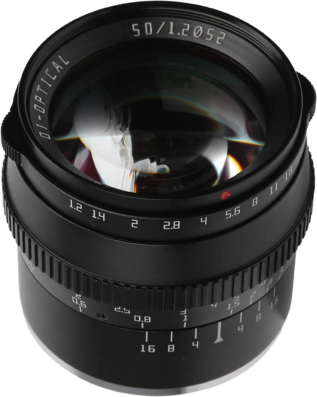 Mirrorless Camera Al sold out. Lens TTArtisan 50mm Large F1.2 FX Mount Apertu Rare