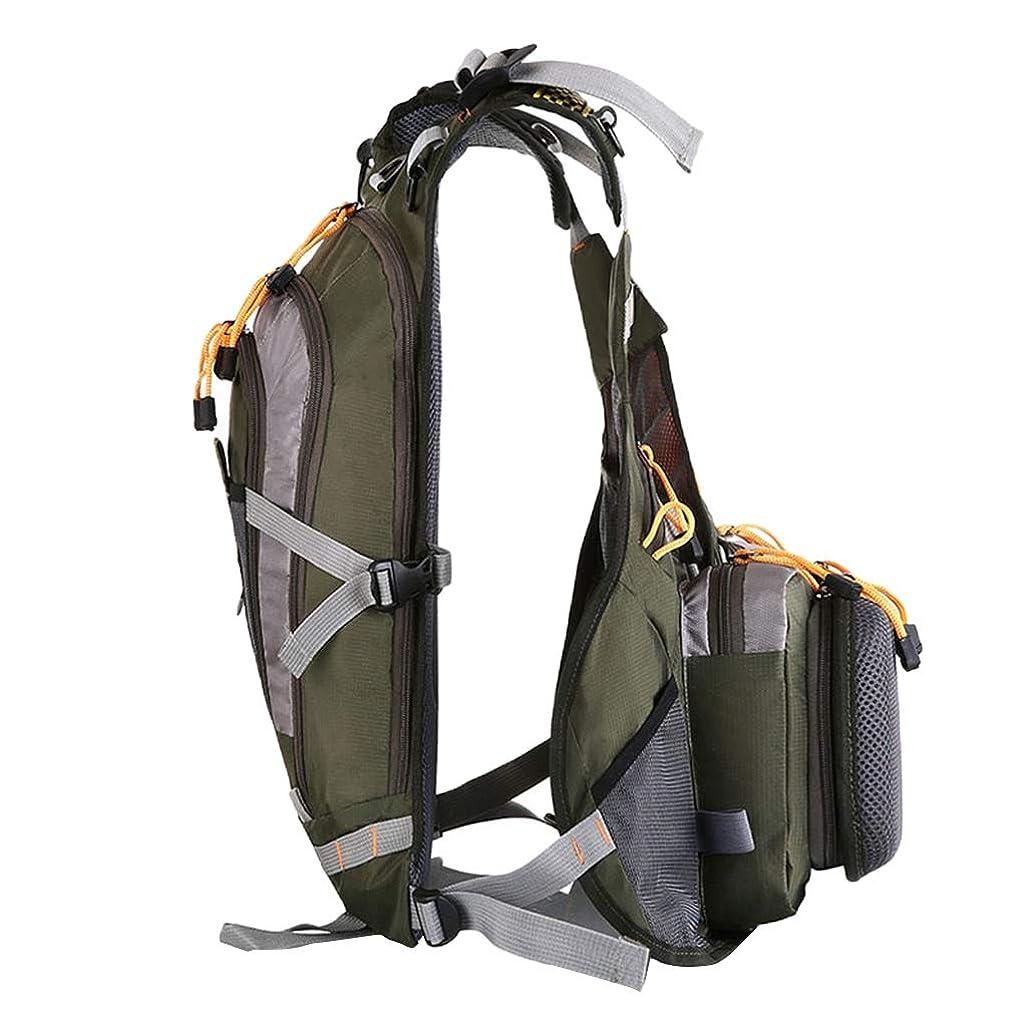 二度メタルラインどこかKESOTO 釣りジャケット ベスト マルチポケット 大容量 調節可能 通気性 防水