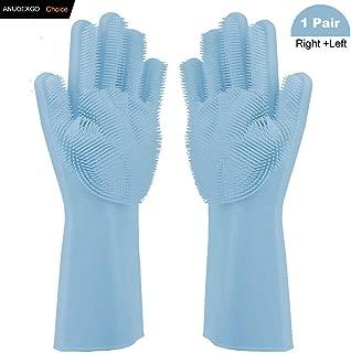 Magic Washing Gloves Reusable Dish Washing Rubber Gloves Kitchen Household Brush for Cleaning, Car Washing