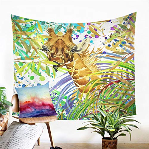 N / A Tapestry home decoration Giraffe Tapestry Wall Hanging Sandy Beach Picnic Rug Camping Tent Sleeping Pad Home Decor Bedspread Sheet Wall Cloth