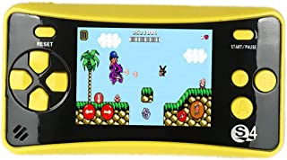 "JJFUN QS-4 Handheld Game Console for Kids, Portable Arcade Entertainment Gaming System Retro FC Video Game Player 2.5"" Color LCD 182 Classic Games, Birthday Present for Children-Yellow"