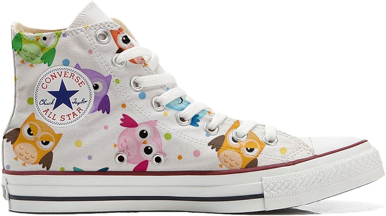 Converse All Star Hi Customized personalisiert Schuhe (gedruckte Schuhe) Tiny Owls    München Online Shop