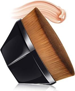 Petal-Shaped Makeup Brush, Foundation Brush, Foundation Makeup Brush, Suitable for Mixed Liquid, Cream or Flawless Powder Cosmetics, Multifunctional Makeup Brush (BLACK)