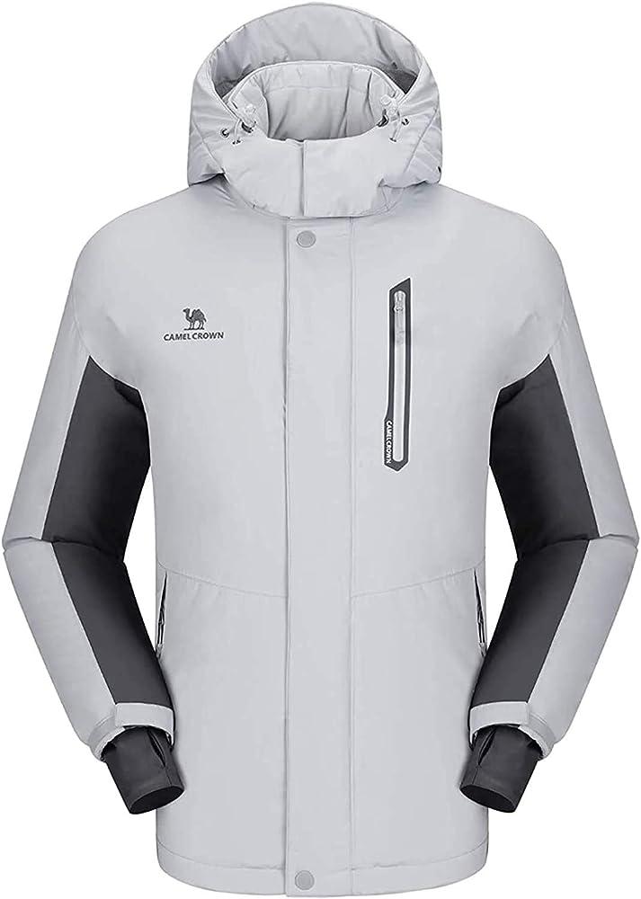 Camel crown, giacca impermeabile per uomo, antivento, giacca da sci con cappuccio CAMEL CROWN