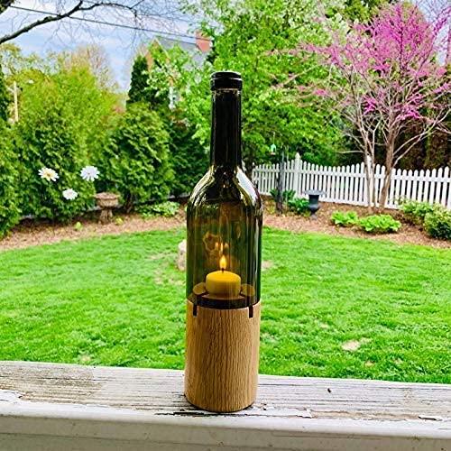 Solid wood wedding anniversary keepsake favor centerpiece wine bottle decoration