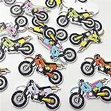 Bigbarry Vistoso 50 unids Mezclado 2 Hoyos Motocicleta Botones de Madera Costura y Scrapbook 34mm Scrapbooking Accesorios de Costura Exquisito
