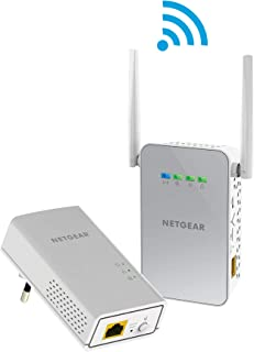 Netgear 美国网件 plw1000 – 100 PES Powerline 电力猫 套装(AC 无线接入点,1 x 千兆端口,高达1000 Mbps,Homeplug AV2)白色