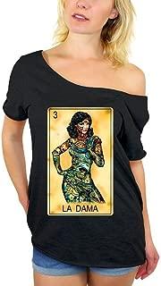Awkwardstyles Women's La DAMA Women Off Shoulder Tops T-Shirt + Bookmark