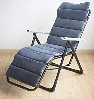 JRMU Thicken Foldable Chair Pads, 62-inch, Non Slip Imitation Mink Suede High Back Patio Chaise Lounger Cushion Window Pad for Rocking Chair Recliner-Gray 62''x19''x1.6''
