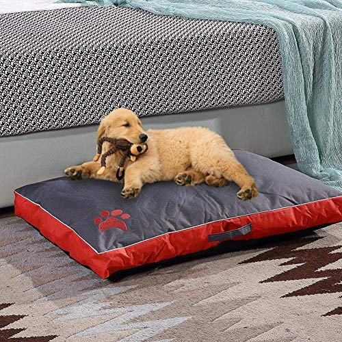 Qazxsw Dog Bed Cushion Mattress,Large,Waterproof,Removable Cover,Soft Comfort Pillow Mat Pet Sofa Sleeping Basket for Large Medium Dog,Washable Crate Pad