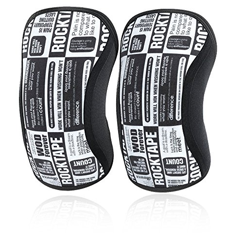 RockTape Assassins 5mm Knee Sleeves (2 Sleeves), Medium (Fits 13.5-14.5 Inches), Manifesto