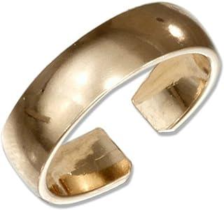 California Toe Rings Women's 6Mm 14K Gold Filled Plain Band Adjustable Toe Ring