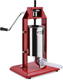 Goplus Vertical Sausage Stuffer 7LB/3L Sausage Grinder Maker Heavy Duty Food Grade Stainless Steel for Home and Commercial Use