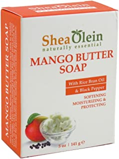 Sponsored Ad - SheaOlein- Mango Butter Soap w/Rice bran Oil & Rosemary Extract by Shea Olien 5 oz Bar (12 Bars)