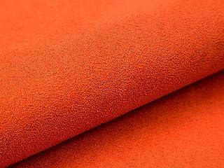 Lederkonzept Alcala Stoff Meterware Wildleder-Imitat Velours Microfaser Möbelstoff Polsterstoff 48 Orange