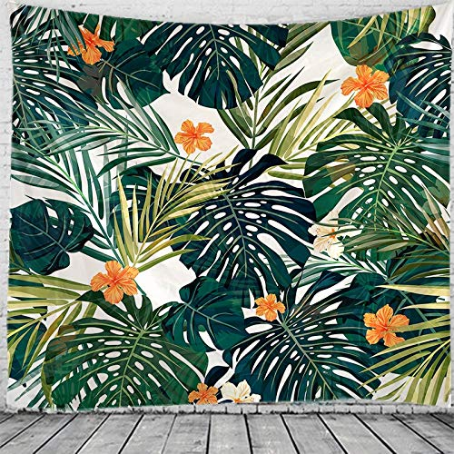 Tapiz para hombres Plantas tropicales Tapiz Tapiz de pared Yoga Hippie Sala de estar Decoración del hogar Toalla de playa