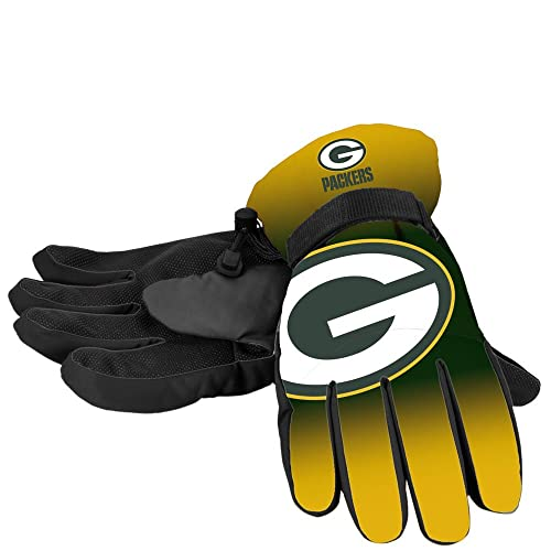 Forever Collectibles NFL Green Bay Packers Insulated Gradient Big Logo  Gloves b752cd418