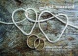 Crealuxe Fussmatte Just Married - Hochzeitsfussmatte (Wunschname nach dem Kauf Bitte angeben - Fussmatte Bedruckt Türmatte Innenmatte Schmutzmatte lustige Motivfussmatte