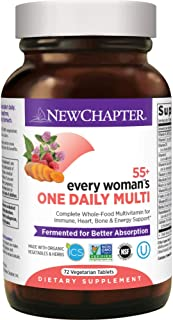 New Chapter Multivitamin for Women 50 plus - Every Woman's One Daily 55+ with Fermented Probiotics + Whole Foods + Astaxanthin + Organic Non-GMO Ingredients - 72 ct