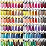 Duufin 200 Piezas Colgantes de Borlas Mini Borlas de Ante para Clave Cadena DIY Accesorios, 40 Colores (Gorra de Plata y Dorada)