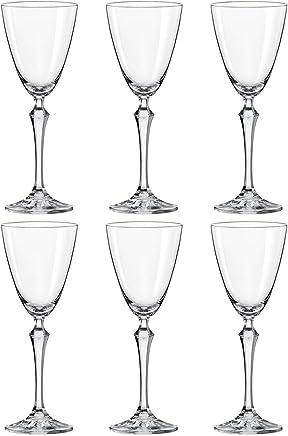 Jogo De 6 Taças Cristal Elizabeth 250Ml Vinho Tinto Bohemia - Incolor