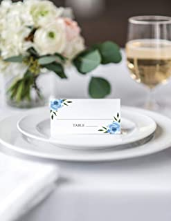 20 Count Folded Escort Cards, Kelly Wedding Place Cards, Tented Escort Cards (E-308-FB)