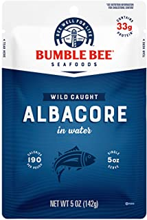 BUMBLE BEE Premium Albacore Tuna In Water Pouch, High Protein Food, Keto Food and Snacks, Gluten Free Food, High Protein S...